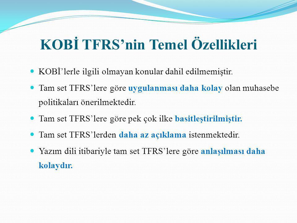 KOBİ TFRS'nin Temel Özellikleri