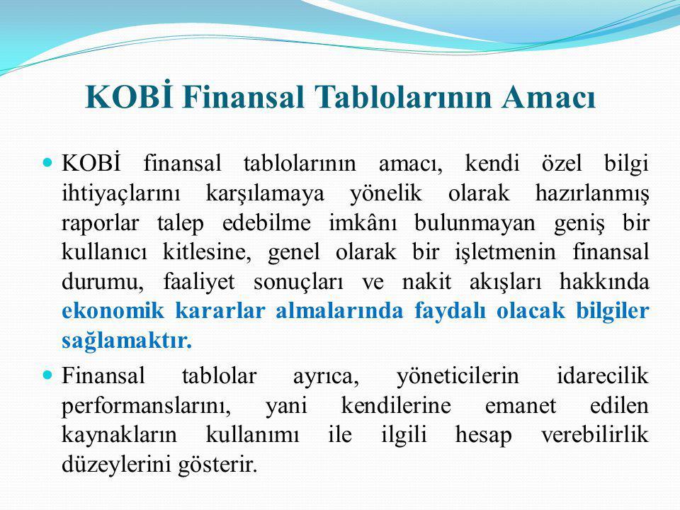KOBİ Finansal Tablolarının Amacı
