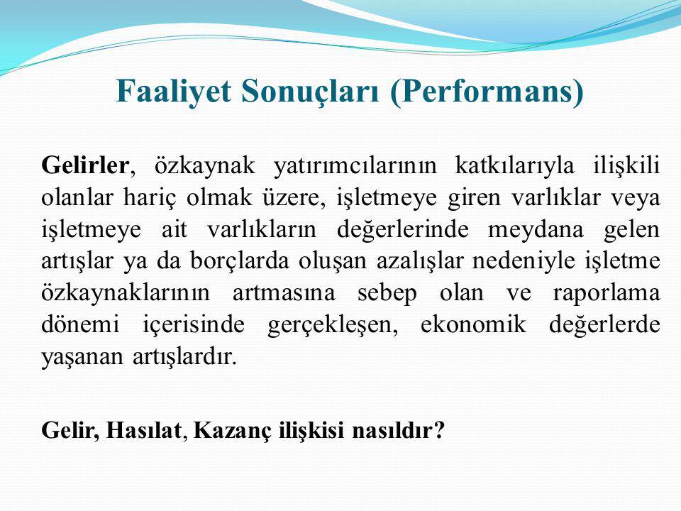Faaliyet Sonuçları (Performans)