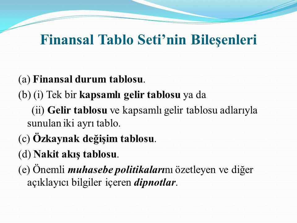 Finansal Tablo Seti'nin Bileşenleri