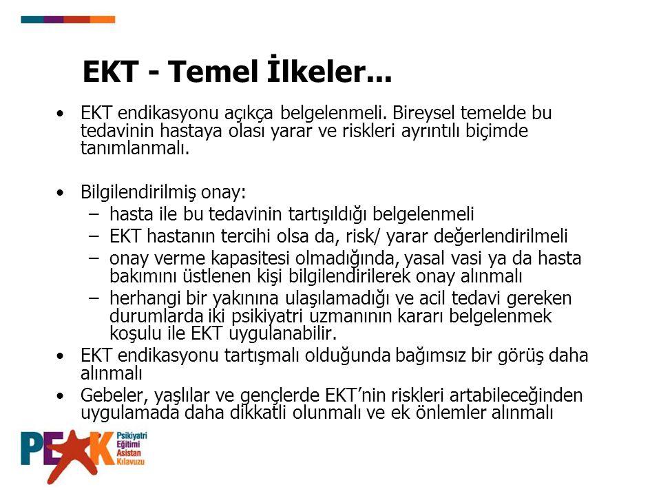 EKT - Temel İlkeler...