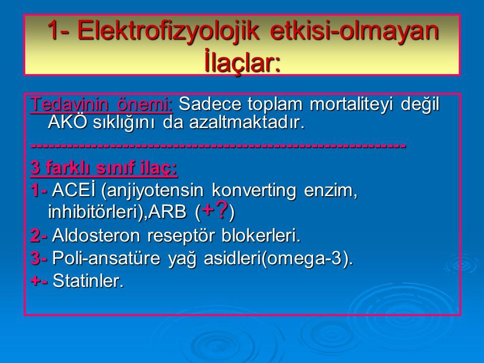 1- Elektrofizyolojik etkisi-olmayan İlaçlar: