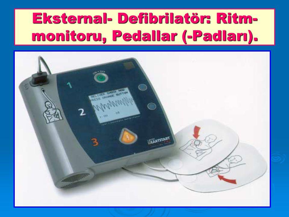 Eksternal- Defibrilatör: Ritm-monitoru, Pedallar (-Padları).