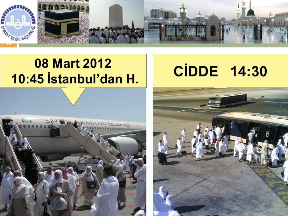 08 Mart 2012 10:45 İstanbul'dan H. CİDDE 14:30