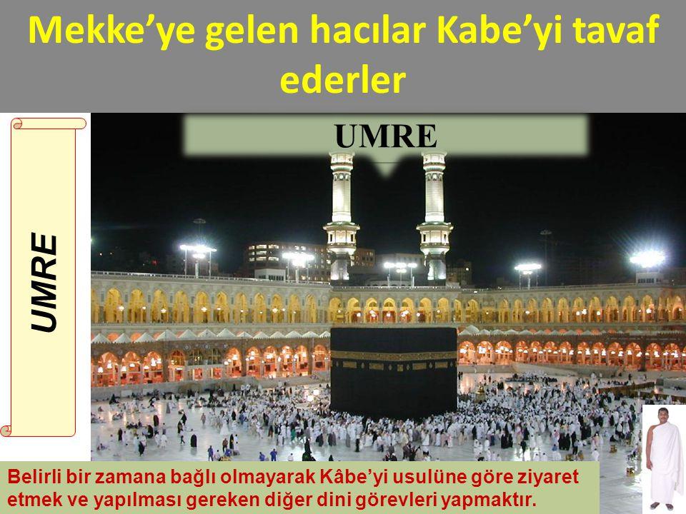 Mekke'ye gelen hacılar Kabe'yi tavaf ederler