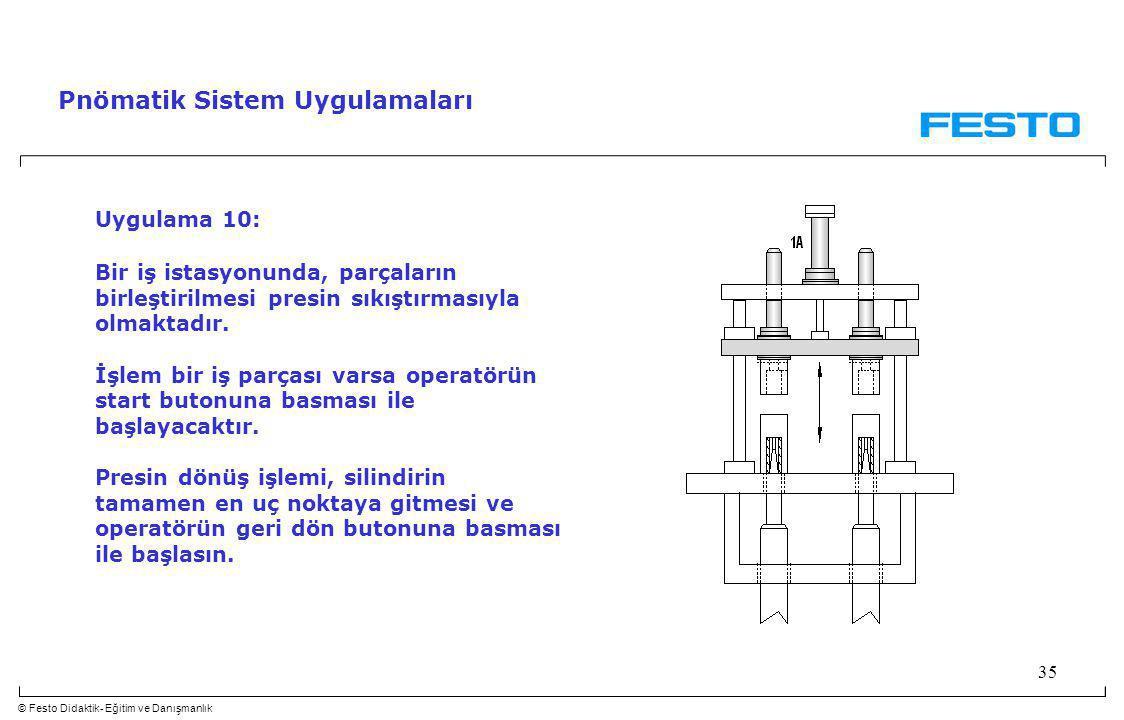 Pnömatik Sistem Uygulamaları