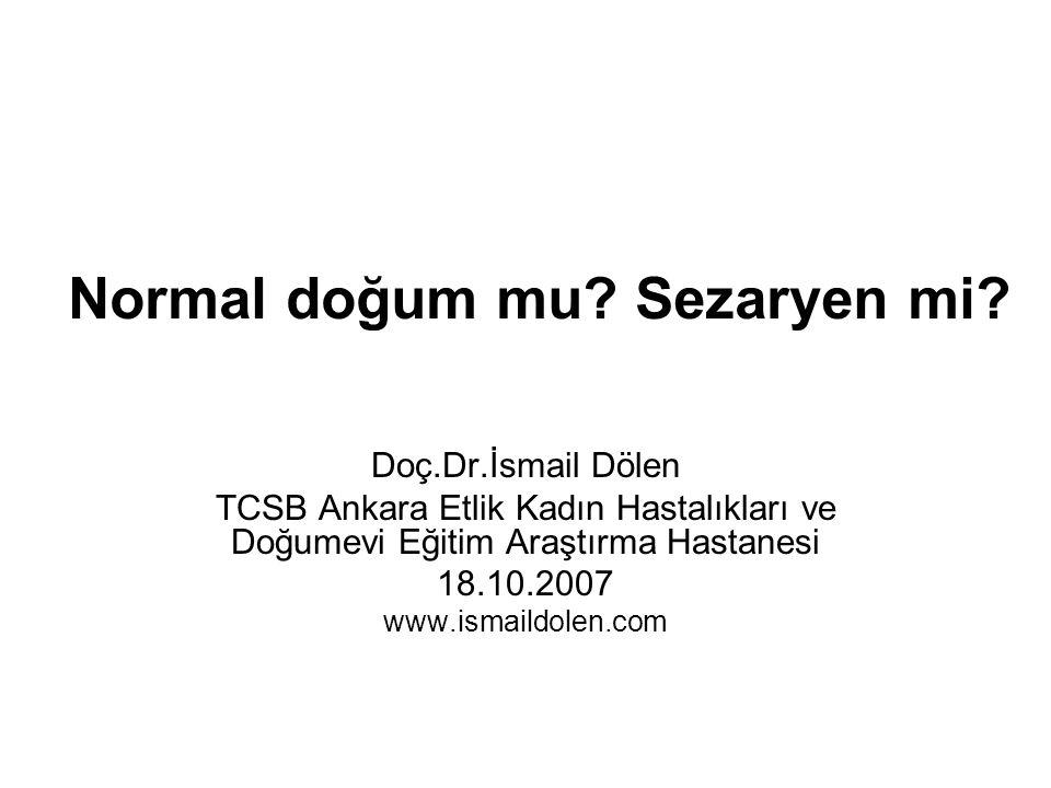 Normal doğum mu Sezaryen mi