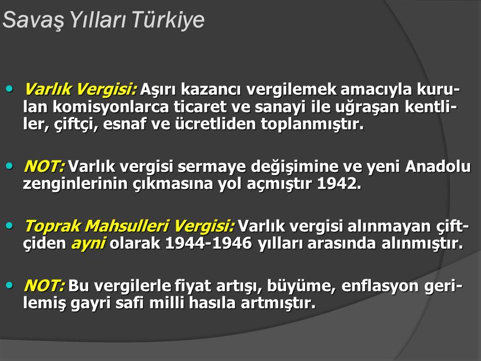 Savaş Yılları Türkiye