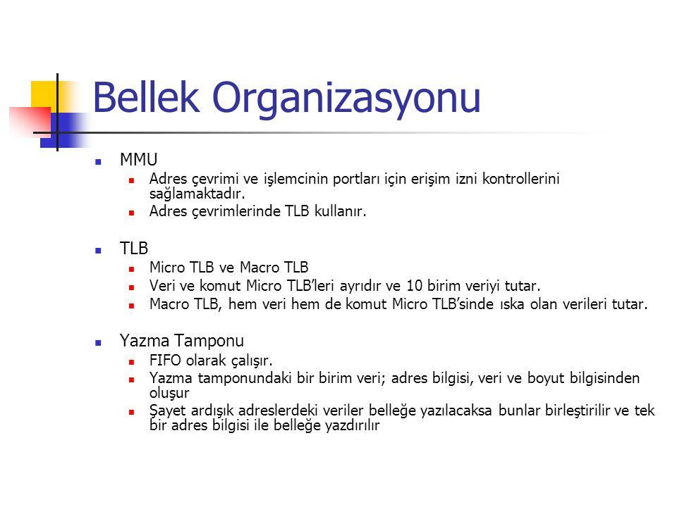 Bellek Organizasyonu MMU TLB Yazma Tamponu