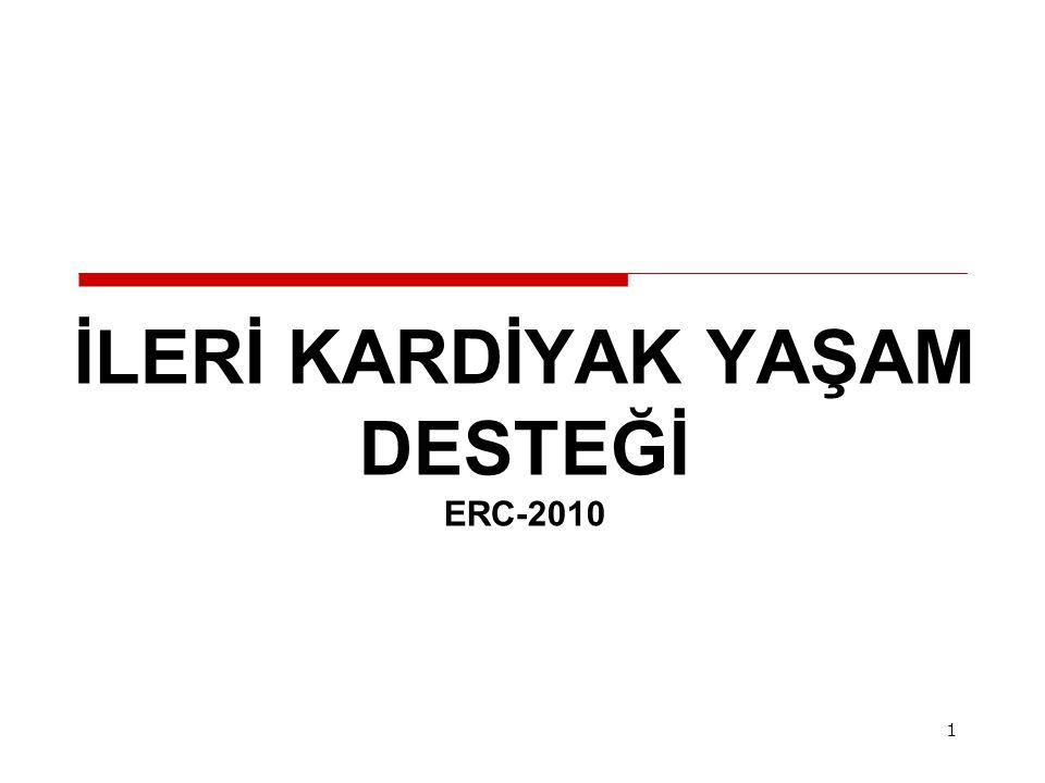 İLERİ KARDİYAK YAŞAM DESTEĞİ ERC-2010