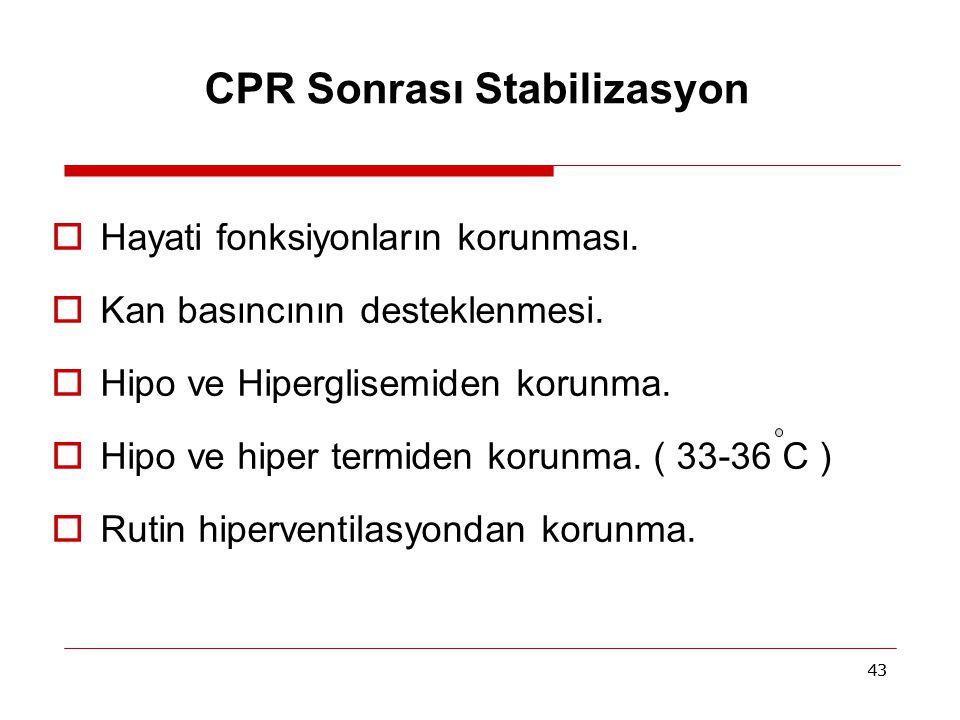 CPR Sonrası Stabilizasyon