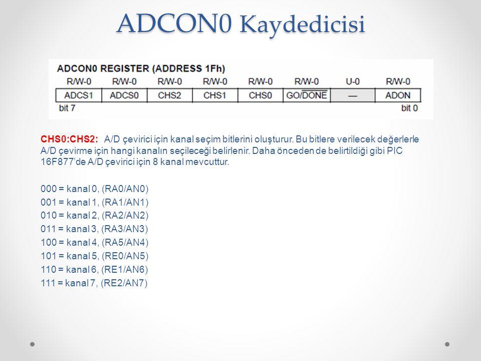 ADCON0 Kaydedicisi