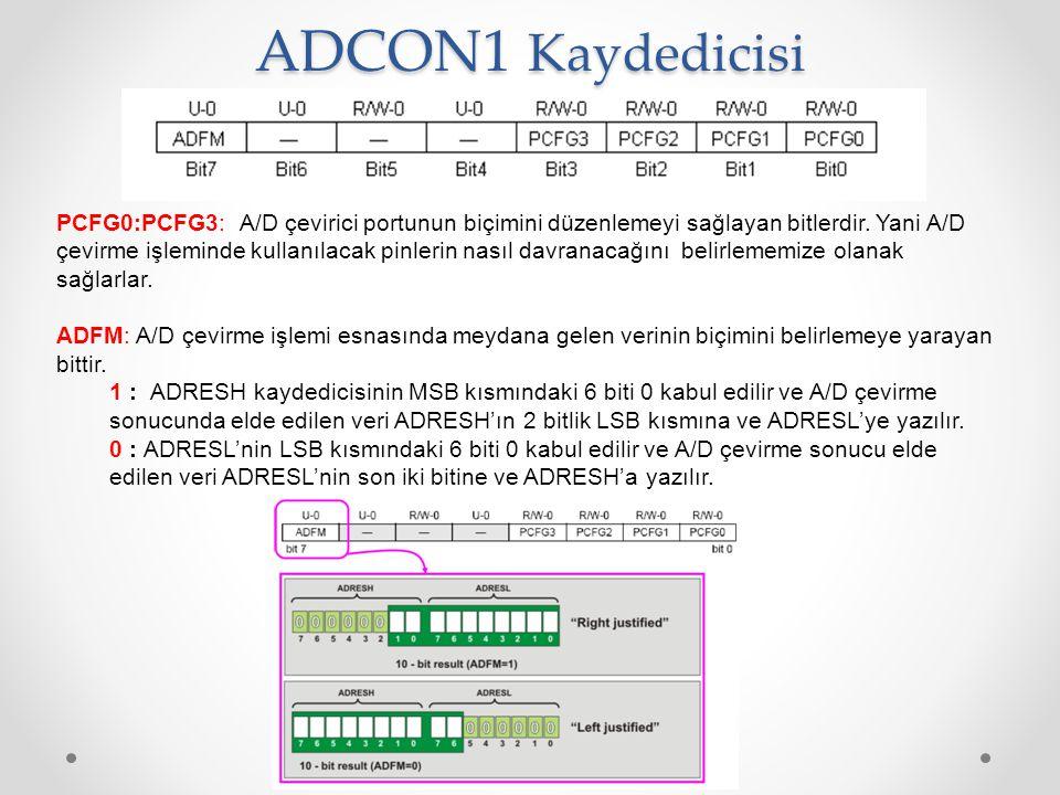 ADCON1 Kaydedicisi