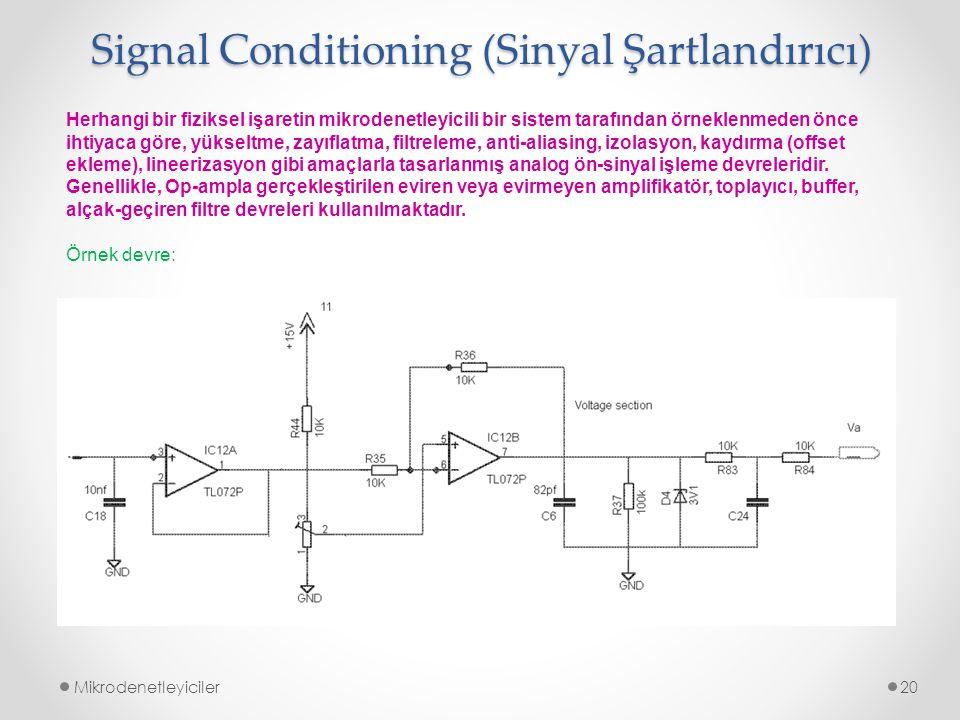 Signal Conditioning (Sinyal Şartlandırıcı)