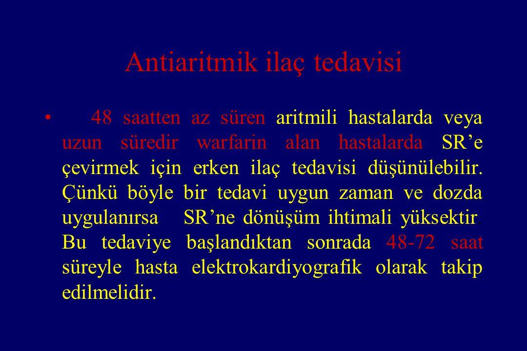 Antiaritmik ilaç tedavisi