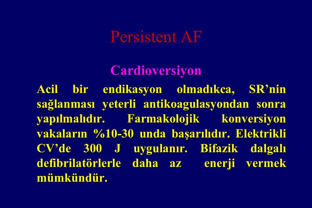 Persistent AF Cardioversiyon