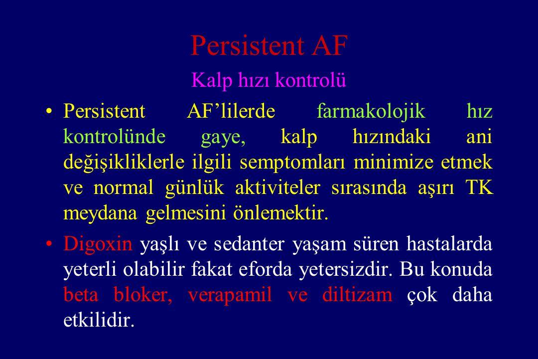 Persistent AF Kalp hızı kontrolü