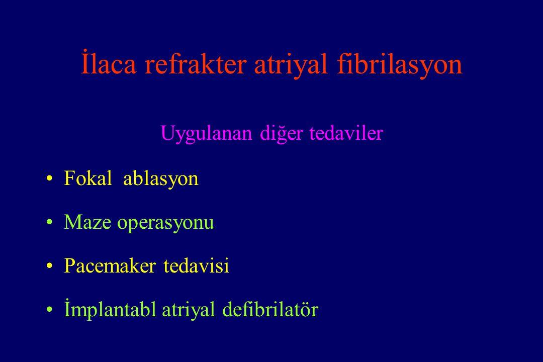 İlaca refrakter atriyal fibrilasyon