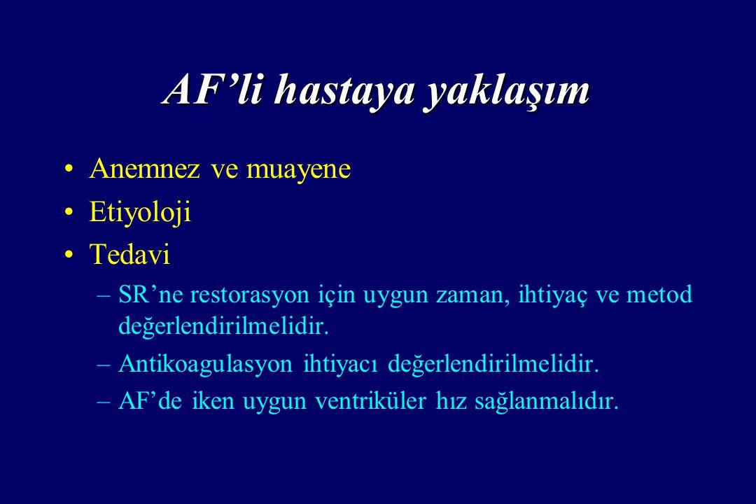 AF'li hastaya yaklaşım
