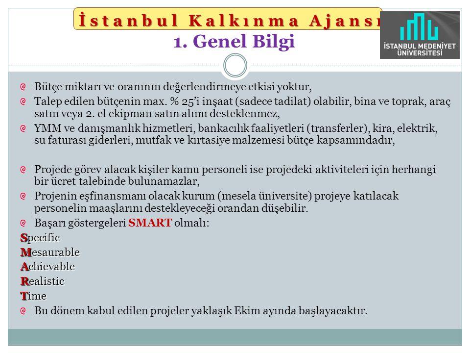 İstanbul Kalkınma Ajansı 1. Genel Bilgi