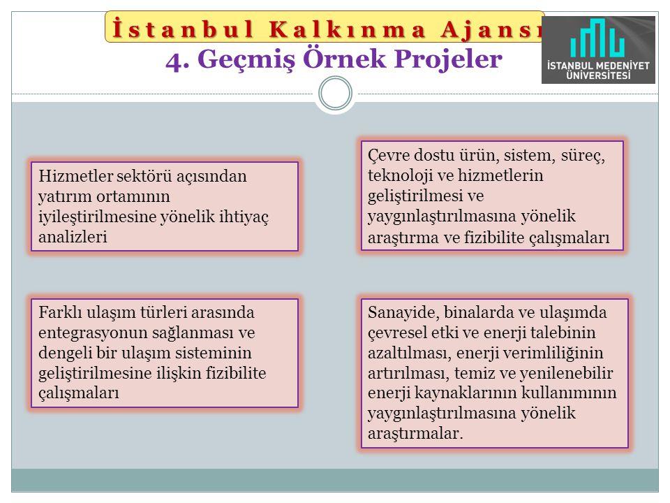 İstanbul Kalkınma Ajansı 4. Geçmiş Örnek Projeler