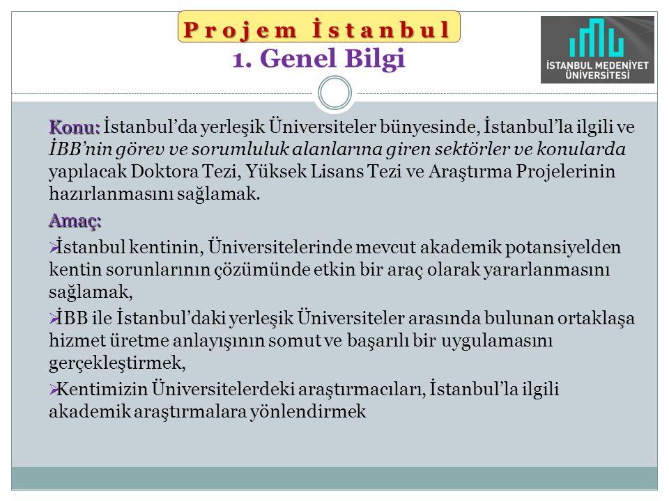 Projem İstanbul 1. Genel Bilgi