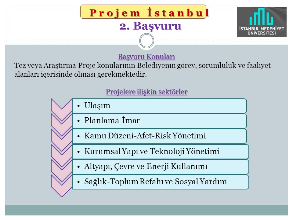 Projem İstanbul 2. Başvuru