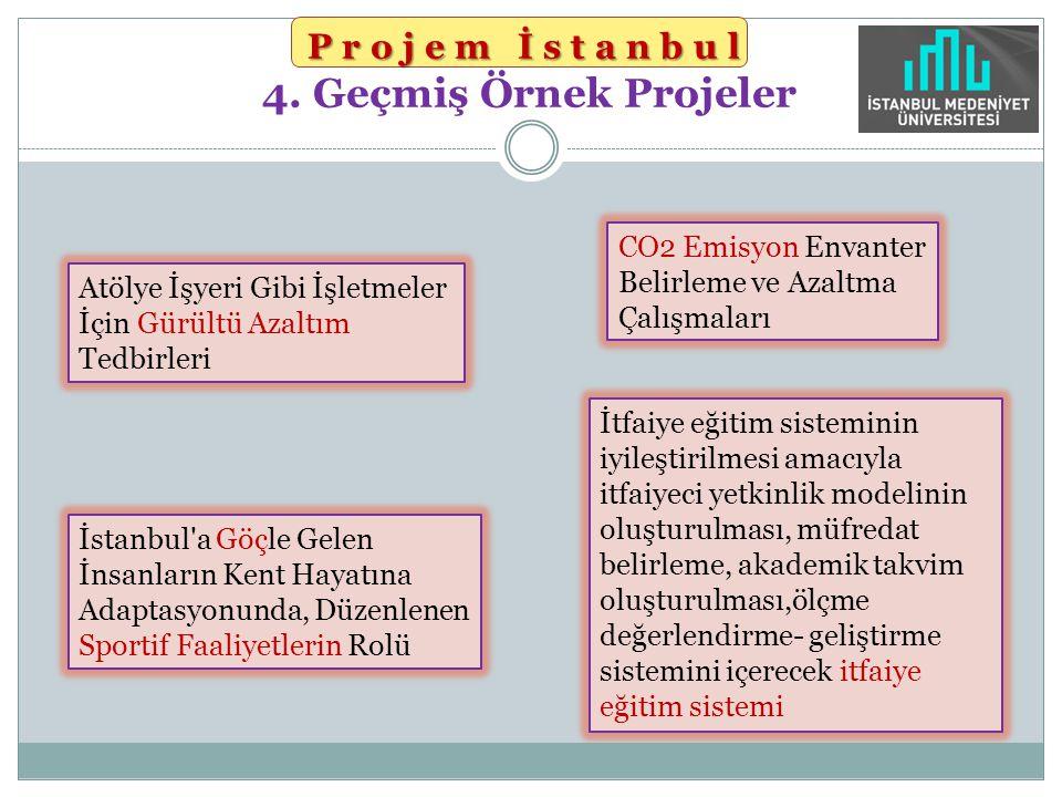 Projem İstanbul 4. Geçmiş Örnek Projeler