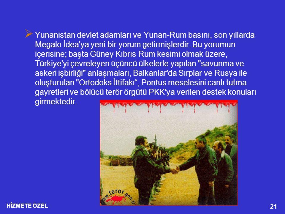 Yunanistan devlet adamları ve Yunan-Rum basını, son yıllarda Megalo İdea ya yeni bir yorum getirmişlerdir.