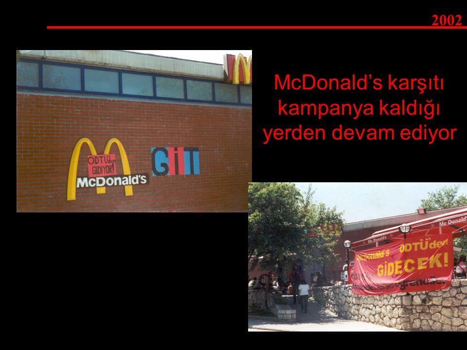 McDonald's karşıtı kampanya kaldığı yerden devam ediyor