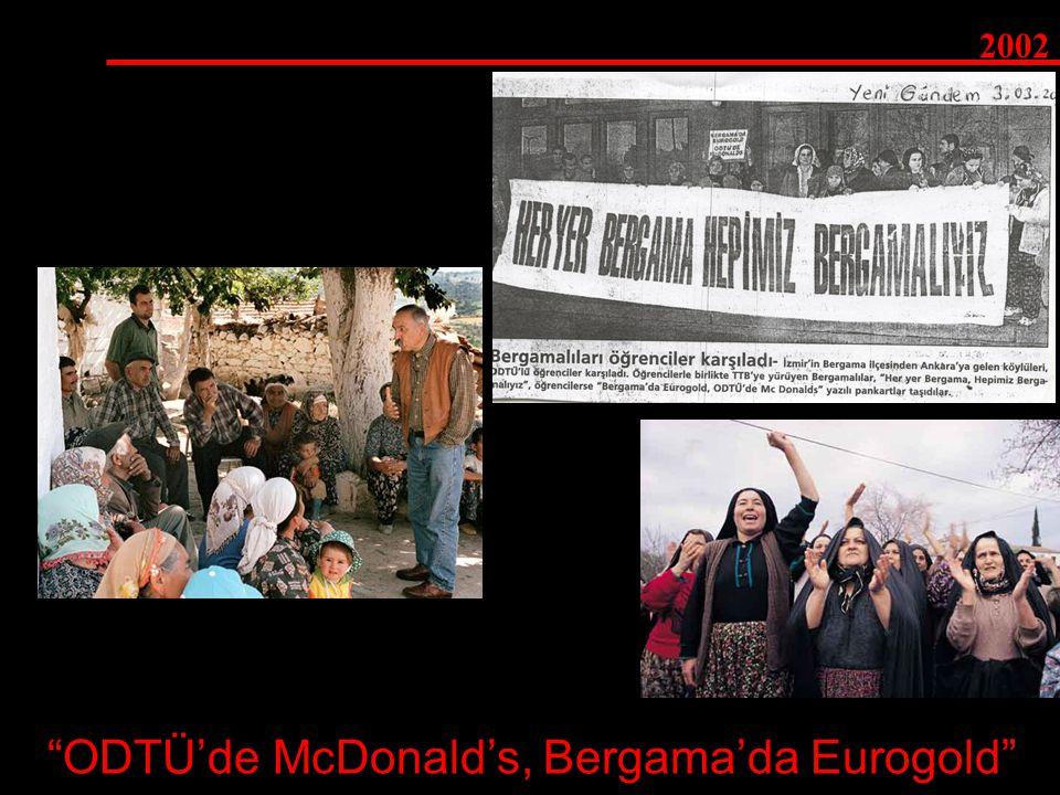 ODTÜ'de McDonald's, Bergama'da Eurogold