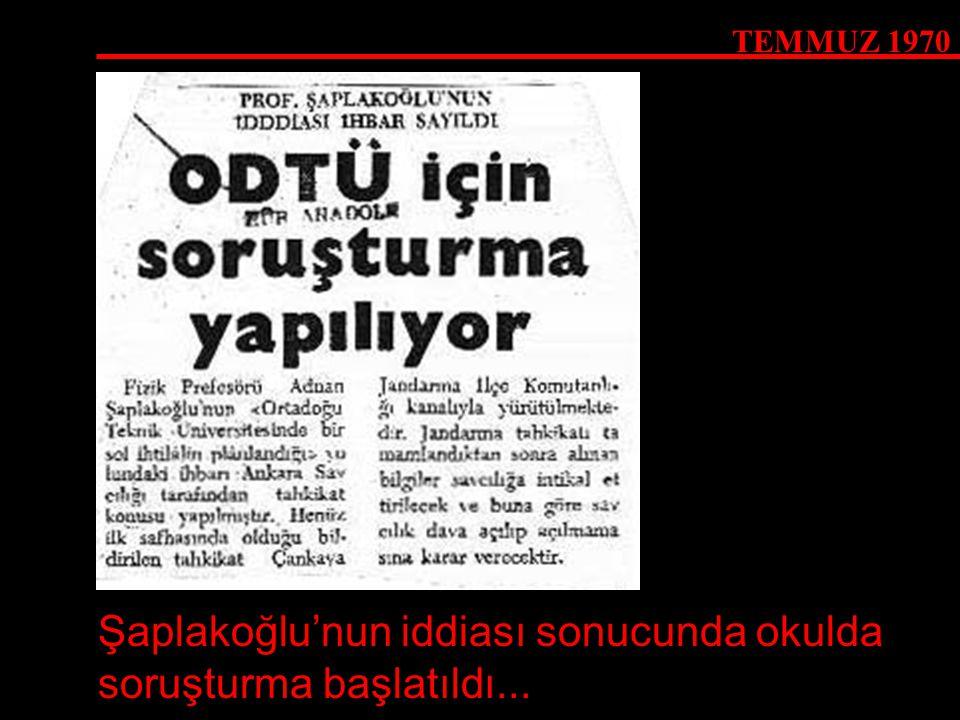 Şaplakoğlu'nun iddiası sonucunda okulda soruşturma başlatıldı...