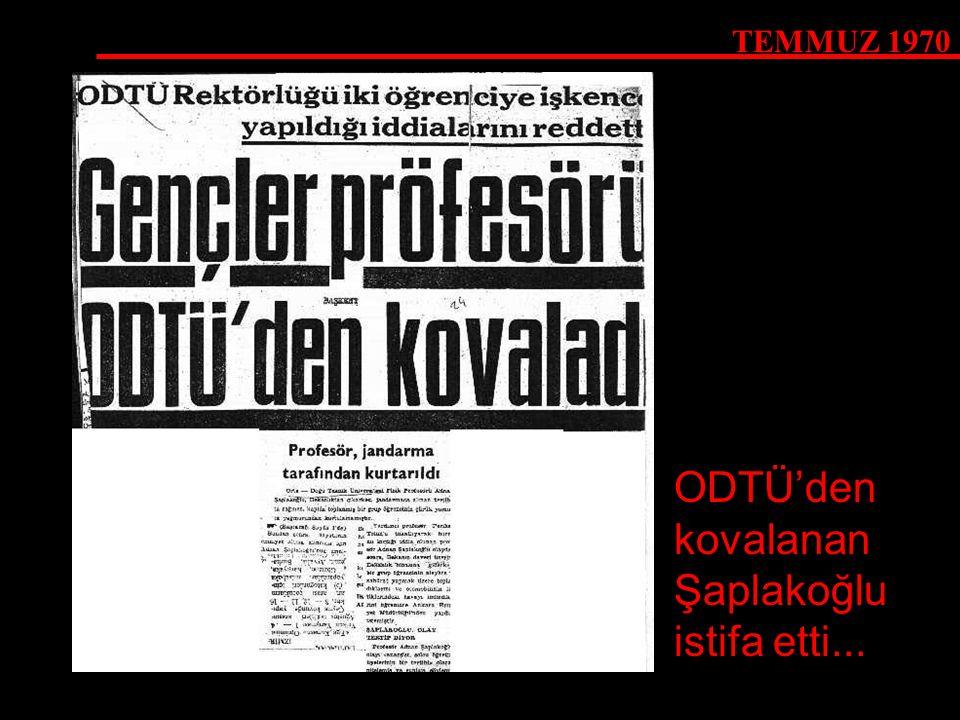 ODTÜ'den kovalanan Şaplakoğlu istifa etti...