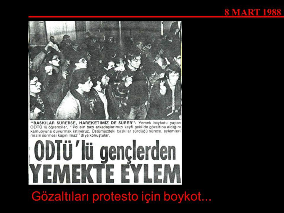 Gözaltıları protesto için boykot...