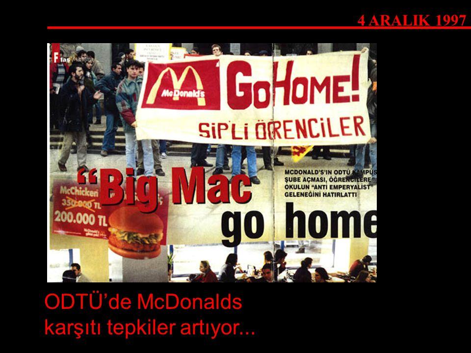 ODTÜ'de McDonalds karşıtı tepkiler artıyor...