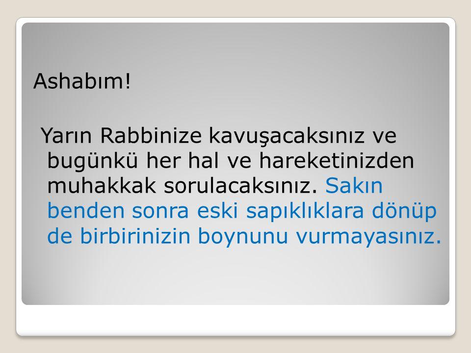 Ashabım.