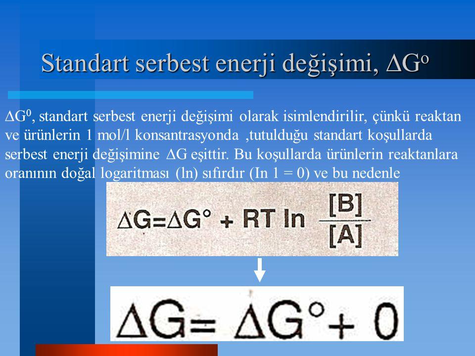 Standart serbest enerji değişimi, Go