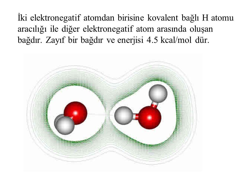 İki elektronegatif atomdan birisine kovalent bağlı H atomu aracılığı ile diğer elektronegatif atom arasında oluşan bağdır.