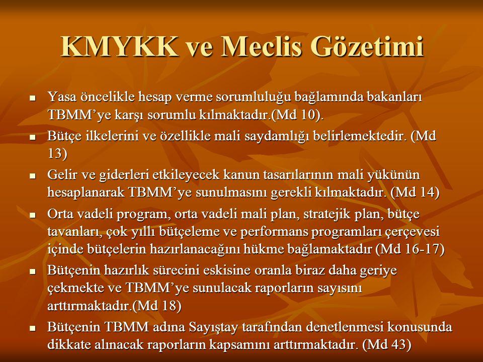 KMYKK ve Meclis Gözetimi