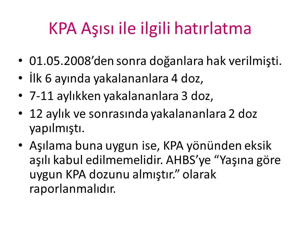 KPA Aşısı ile ilgili hatırlatma