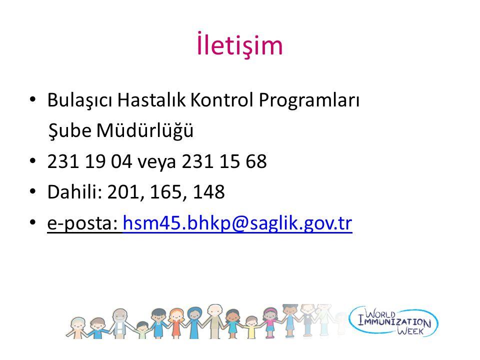 İletişim Bulaşıcı Hastalık Kontrol Programları Şube Müdürlüğü