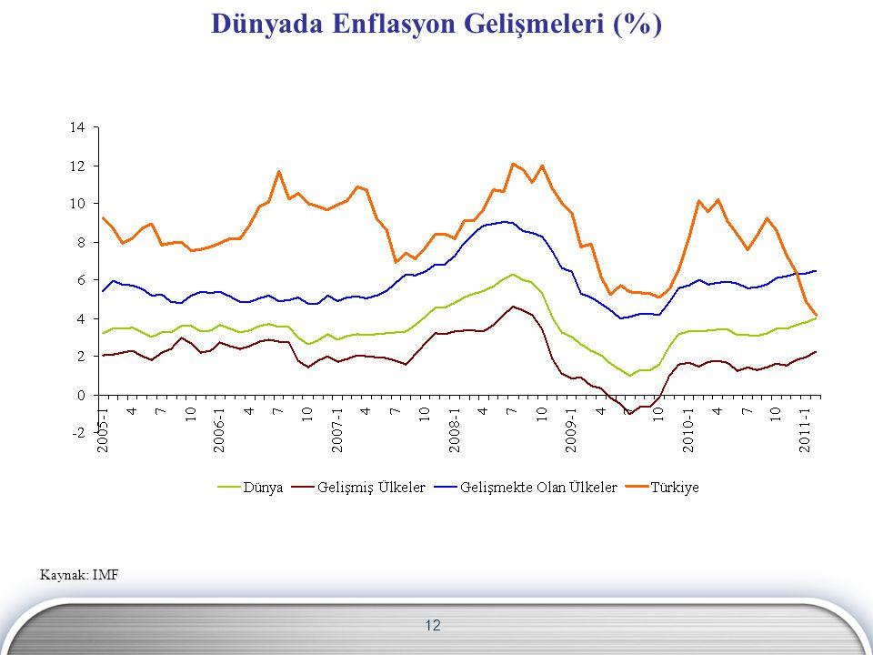 Dünyada Enflasyon Gelişmeleri (%)