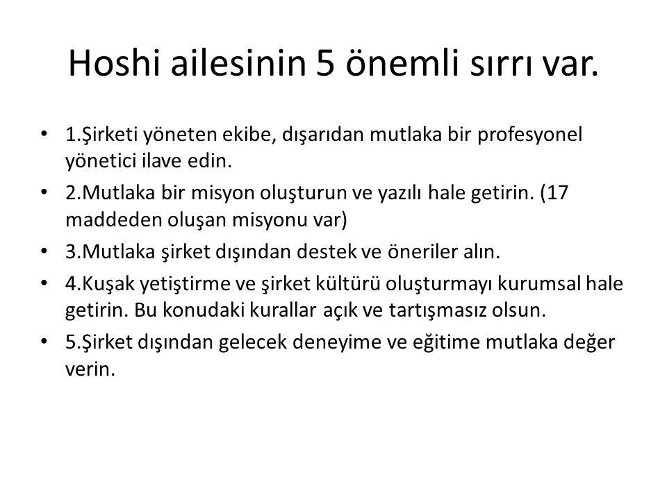 Hoshi ailesinin 5 önemli sırrı var.