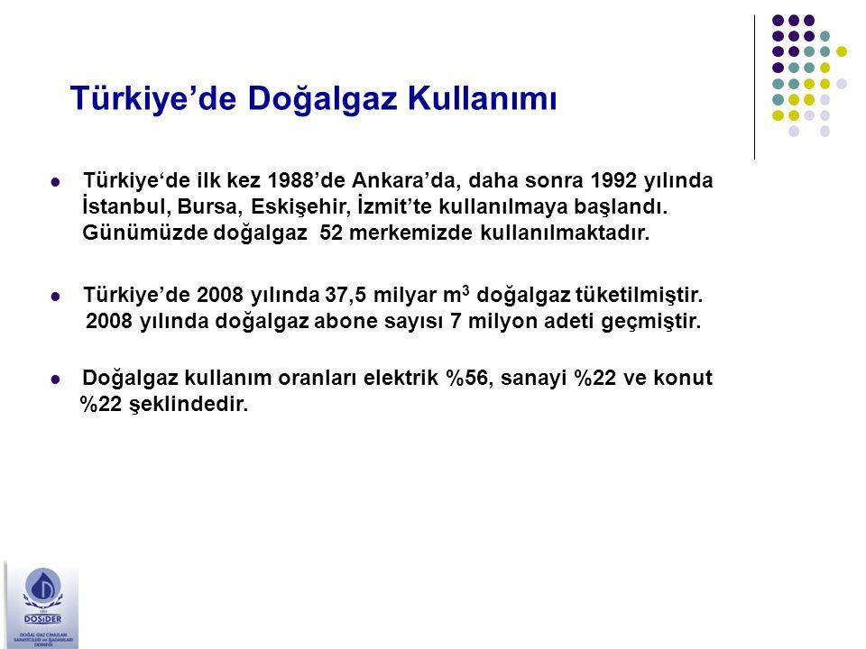 Türkiye'de Doğalgaz Kullanımı