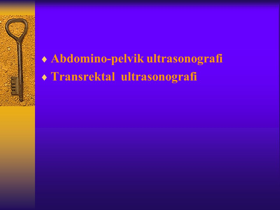 Abdomino-pelvik ultrasonografi