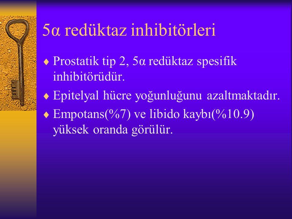 5α redüktaz inhibitörleri