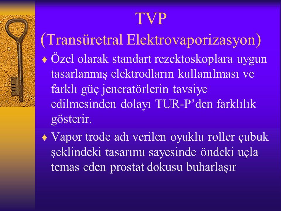 TVP (Transüretral Elektrovaporizasyon)