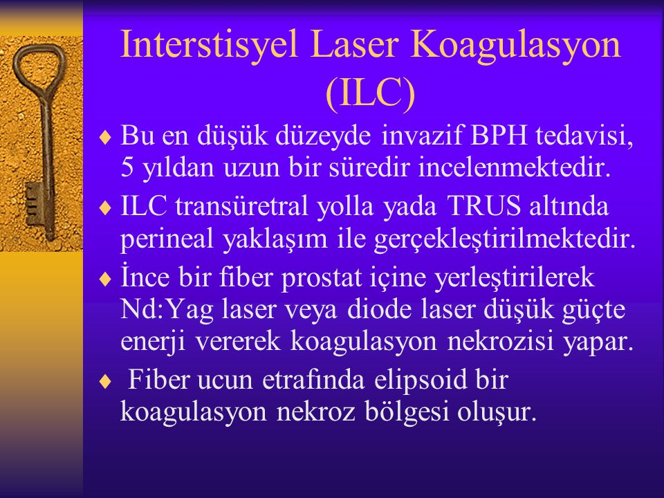 Interstisyel Laser Koagulasyon (ILC)