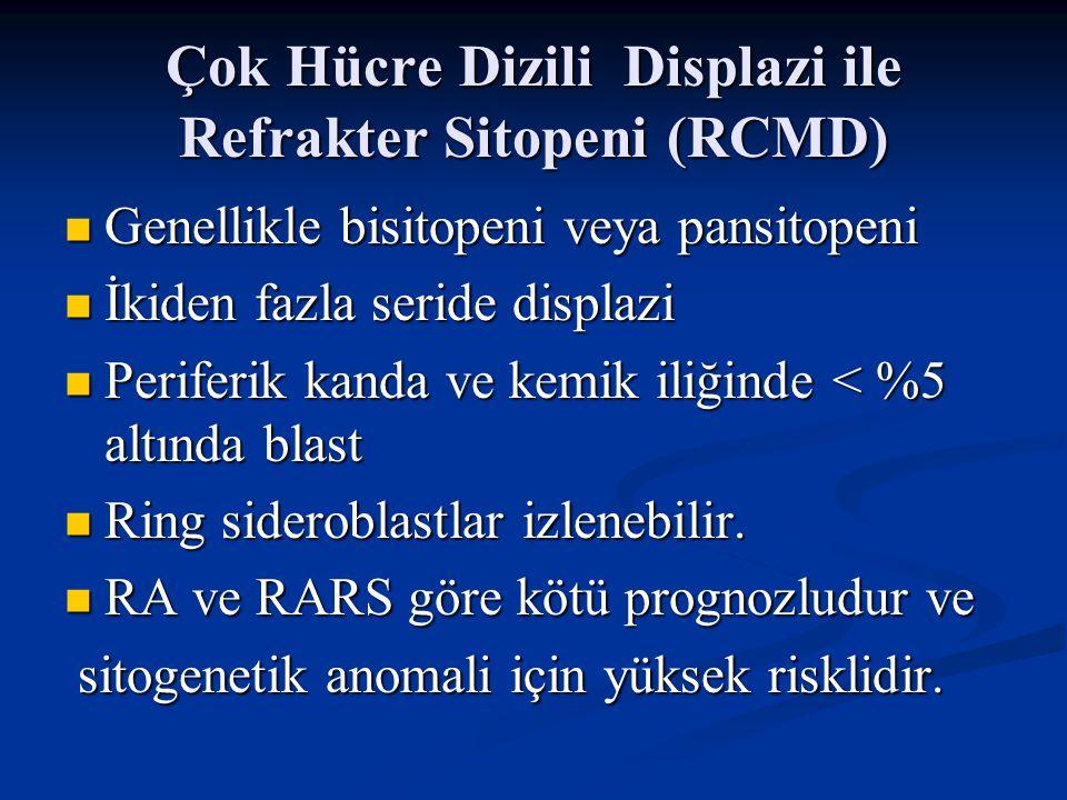 Çok Hücre Dizili Displazi ile Refrakter Sitopeni (RCMD)