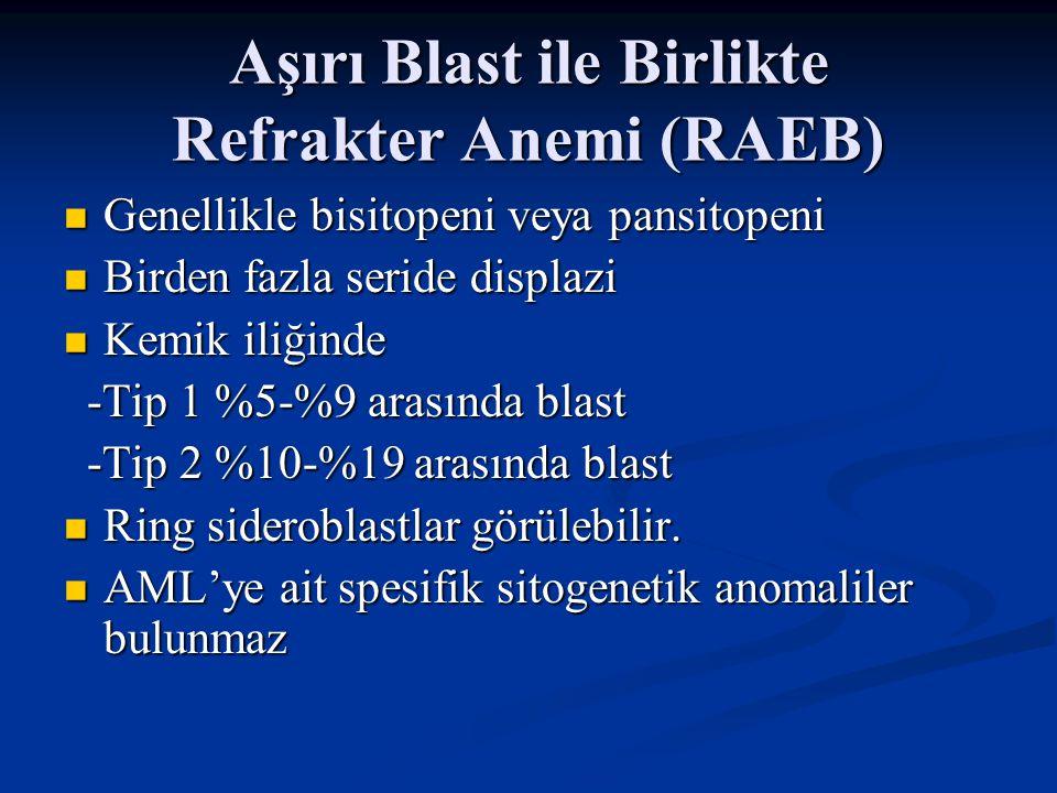Aşırı Blast ile Birlikte Refrakter Anemi (RAEB)